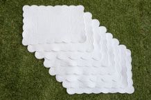 8 sets de table boutis blanc