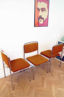 Lot de 3 chaises vintage scandinave 1970's