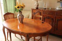Table merisier style Louis XV