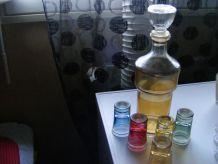 bouteille de liqueur+verre