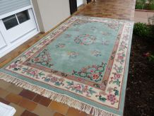 Tapis chinois en pure laine tufté main
