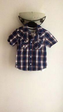 chemise enfant avec t-shirt pour garçon taille 5 ans (110cm)