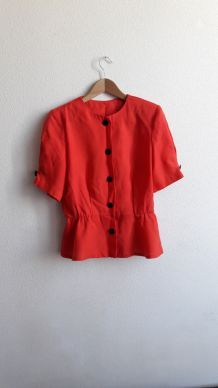 Chemisier rouge vintage taille 38/40