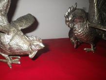 figurines de coq de combat (grand modele)