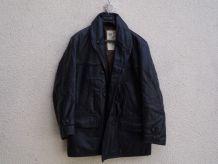 Veste 3/4 - Homme en cuir vintage - noire - Taille 48 - C0005