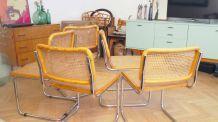 Lot de 4 Chaises design Cesca B32 par Marcel Breuer