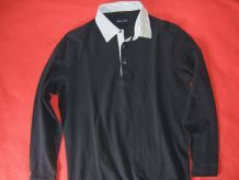 Polo à col chemise contrastant