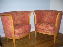 Paire de fauteuils anciens art déco