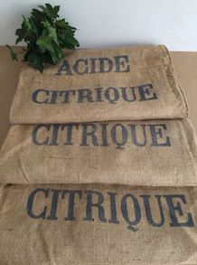 "Sac en jute ""acide citrique"""