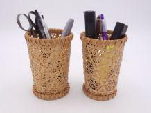 Pots à crayons en osier