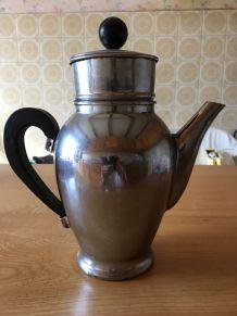 cafetière vintage inox