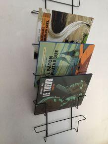 Présentoir livres, bandes dessinées, vinyls..