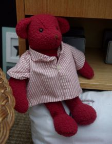 Nounours ou ours Moulin Roty rouge