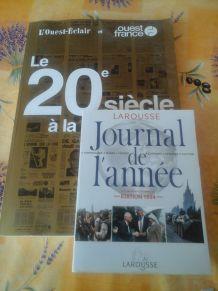 Le 20 ème  Siècle à la UNE / Journal de l'année 1993