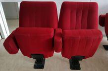 Paire de fauteuils de theatre