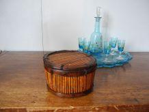 Boîte Bonbonnière en bambou années 70