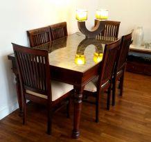 Table indienne artisanale de salle à manger