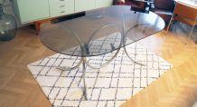 Grande Table ovale au style Marcel Breuer années 60/70