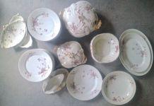 Service ancien vaisselle porcelaine de Limoges