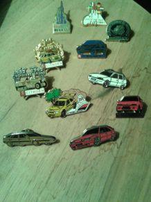 11 Pin's automobiles de collection Citroën et Renault