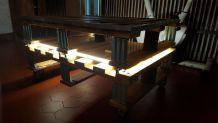 Table basse palettes + led
