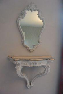 miroir avec console