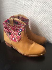 Boots ethnique Marque Antik Batik pointure 40