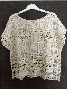 Top crochet coton Best Mountain taille unique