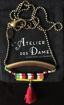 Sautoir Pompons et perles L'Atelier des Dames