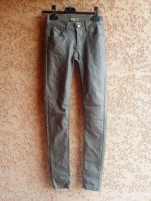 Pantalon Enduit Stretch Bronze