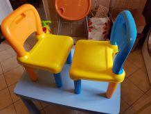 Table avec 2 chaises