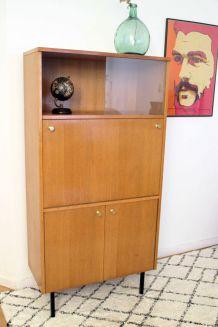 Secrétaire bureau vintage années 60 style Pierre Guariche