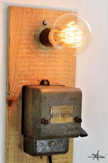 """Lampe Applique Industrielle """"La Court Circuitée"""""""