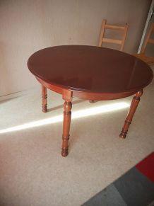 table ronde convertible en bois