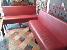 Banquettes bar skai rouge