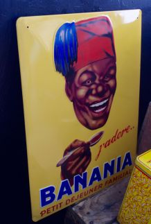 Plaque métal Banania
