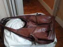 Sac cuir marron