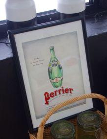 Publicité Perrier magazine l'Illustration années 30 encadrée