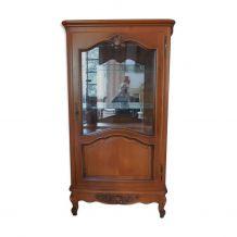 Argentier/vitrine Merisier Massif Style Louis XV