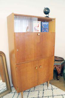 Secrétaire bureau vintage années 60 style scandinave