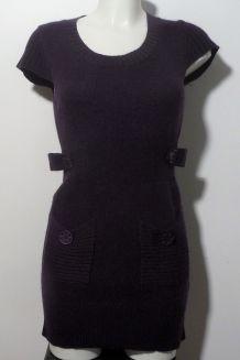 Tunique/Robe En 50% Laine Et 30% Mohair Violet- Taille 2- Cindstory