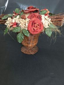 Bouquet de fleurs et végétaux séchés