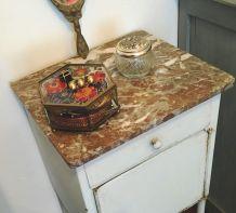 Petite console métal et plateau en marbre