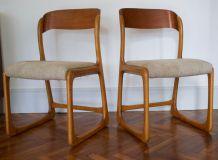 paire de chaises Baumann traineau