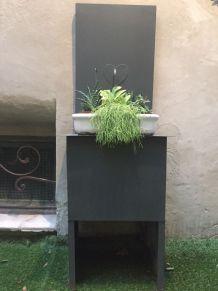 Fontaine de jardin en zinc