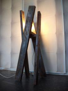 Lampe d'ambiance design finition industrielle