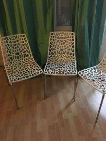 Lot de 4 chaises design
