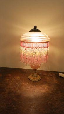 Lampe vintage en pâte de verre