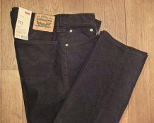 Pantalon Homme 751 Regular Fit Velours Très Fin Noir - Taille W32 L34- Levi'S