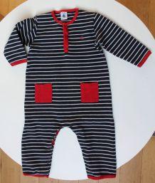 Combinaison Petit Bateau en jersey lourd 18 mois